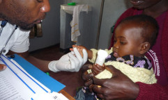 A child receives treatment at a clinic in Malawi. Photo courtesy of Doctor without Borders