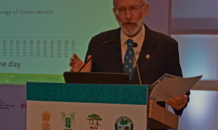Dennis Garrity speaks at WCA2014 in Delhi, India. Photo by Daniel Kapsoot/ICRAF
